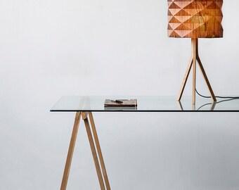handmade veneer lighting high end design ,standing lamp , natural look