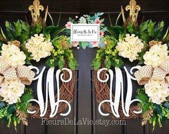 Double Door Wreaths, Spring Wreaths for Front Door, Front Door Wreaths, Farmhouse Wreath for Front Door, Wreaths. for Spring , Home Decor