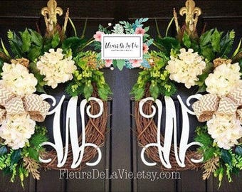 Attractive Double Door Wreaths, Spring Wreaths For Front Door, Front Door Wreaths,  Farmhouse Wreath