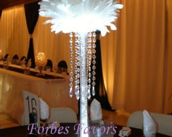 24 Hanging Crystal Garland with Crystal Pendant wedding centerpiece decoration