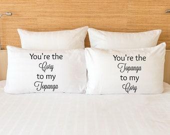 Cory and Topanga - Boy Meets World couple pillowcase set