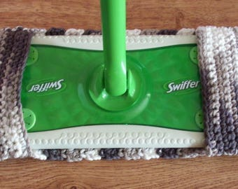Crocheted Swiffer Cover,Reusable mop cover,Washable mop cover,Swiffer Pad- Chocolate Ombre