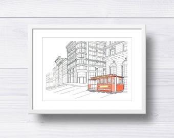 Cable Car San Francisco Print