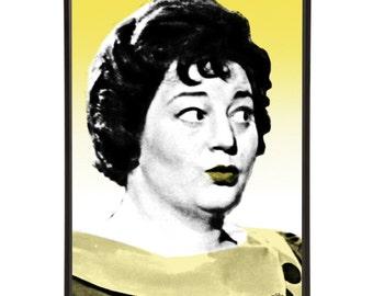 Hattie Jacques - Pop art portrait of Hattie Jacques, the famous matron of the Carry On films.