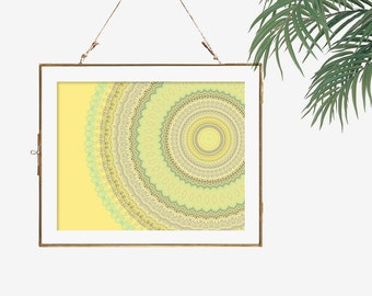 Boho wedding decor grey yellow kitchen decor wall art print modern bohemian wall art hippie boho decor home wall art mandala bright yellow