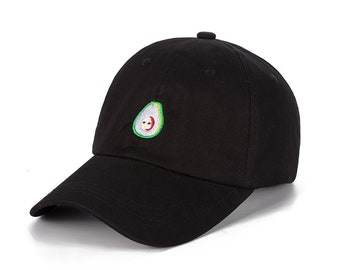 Dad Hat - Avocado Hat Embroider - Summer dad hat - Fruit Style Summer Dad Hat/Cap Summer Baseball Cap And Hat