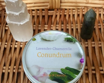 Lavender Chamomile Conundrum Soy Wax Candle