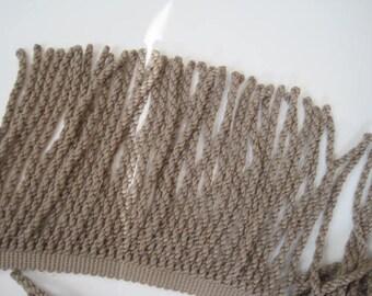 "Olive Upholstery Fringe Drapery Craft Sewing Trim 1 yard 8"""