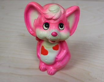 Vintage Hot Pink Mouse Bank