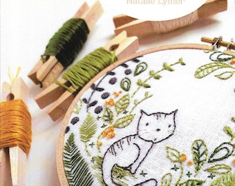 """Pattern """"Purrrfect"""" by Cinderberry (CB710) Hand Embroidery Pattern"""
