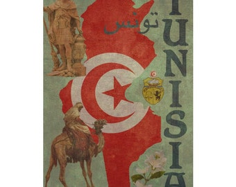 TUNISIA 1FS- Handmade Leather Journal / Sketchbook - Travel Art