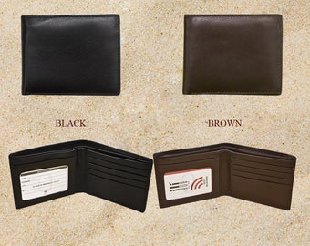RFID Wallet,Personalized Men's Wallet,Leather Wallet,Groomsmen Gift,Wallets with quotes,Wallets with Messages,Dads's Gift,Gift For HIm