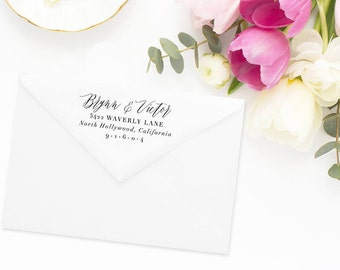 Return Address Stamp, Address Stamp, Custom Address Stamp, Wedding Return Address Stamp, Personalized Return Address Stamp, Rubber Stamp #48