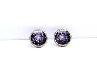 Space Stud Earrings - Stud Earrings Galaxy - Space Earrings - Galaxy Studs (SES1)