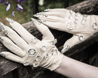 Crystal Claw Gloves - Swarovski Couture Gloves