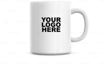 Coffee mug with your logo, design or name custom made for you