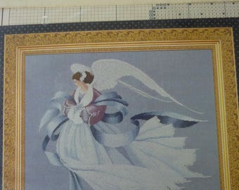 Angel of Winter in Lavender and Lace pattern