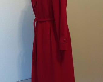 Vintage Skin Gear II Non Leather Suede Red Coat