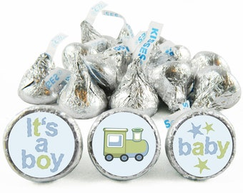 Set of 108 - Prince Boy Baby Shower Stickers for Hershey's Kisses. Prince Baby Shower Favors - Prince Kiss Stickers - #IDBBS610