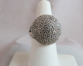 Marcasite Dome Ring