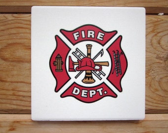 Firefighter Coasters #1 (Boxed Set of 2)