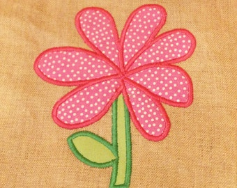 Whimsical Flower Applique Design for Clothing or Home Decor in 3 Sizes!  Simple, Modern, Bold, Adorable Flower Machine Embroidery Design