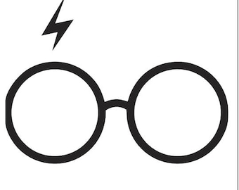 Harry Potter glasses with scar decal