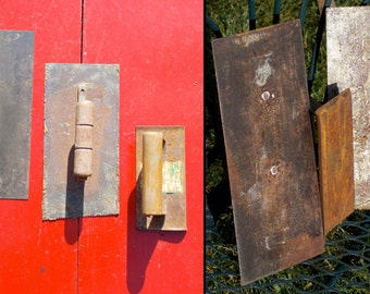 Set of Three  Square Plaster and Concrete Trowel and Edgers  -  Art -Building Supplies  -Wooden Handles - Patina -Rustic -