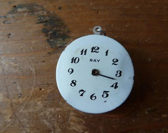 Upcycled old watch mechanism rreversible pendant