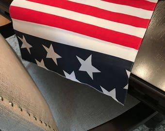 Patriotic Table Runner | 4th of July Table Runner | American Flag Decor | American Flag Table Decor | Patriotic Home Decor | July 4th Decor