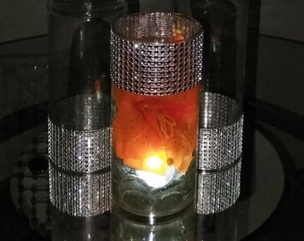 Elegant Bling Glass Centerpiece with Free Shipping