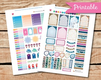 Ramadan Printable Planner Stickers, Weekly Kit, Perfect for Erin Condren Planner and other planners