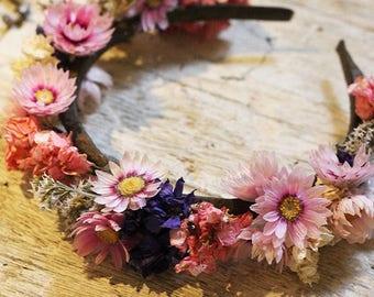 Flower Headband - Dried Flowers