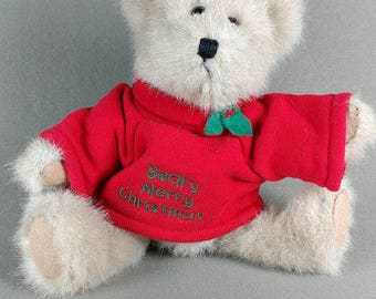 Christmas Boyds - Barry - Beary Merry Christmas - Boyd's Bear Collectible Plushie - LOOKS and SMELLS NEW!! - Retired Style #904365