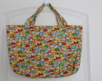 Cupcake Padded Tote Bag  CLEARANCE SALE