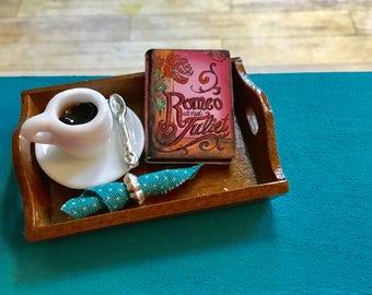"Dollhouse Miniature Book ""Romeo & Juliet"""