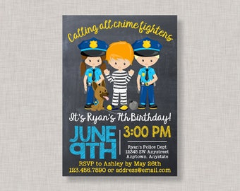 Cops and Robbers Invitation, Cops and Robbers, Cops and Robbers Birthday Party, Cops and Robbers Party, Cops and Robbers Party Invitation