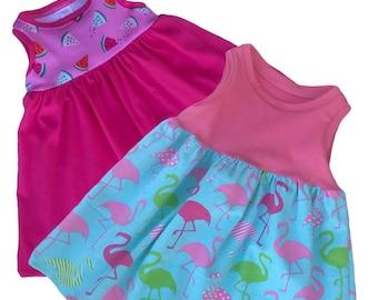 Flamingo or Watermelon Tank Sun Dress Infant-toddler Sundress