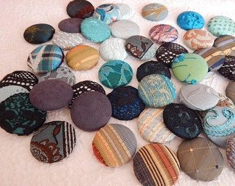 CLEARANCE - 43 blue aqua fabric covered button, size 60, 1.5 inch