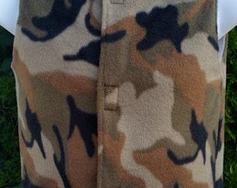 Camo Toddler Vest, Infant Camo Vest, Camo Fleece Vest, Boys Fleece Vests, Pattern Fleece Vest, Kids Fleece Vest, Boys Winter Vests