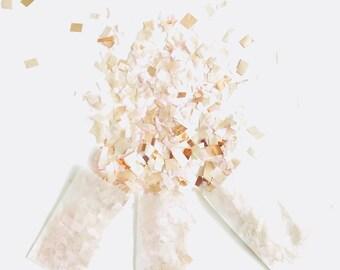 Rose Gold Blush and Champagne Confetti, Wedding Table decor, Copper Party Decoration, Biodegradable Confetti Toss, Baby Shower Decor