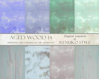 Aged wood 14 Digital Scrapbook Paper Photoshop Backgrounds