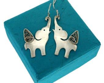 Abhramu, Handmade Sterling Silver Earrings