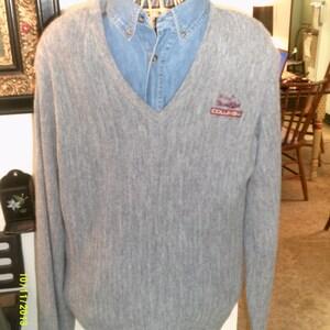 Mens Vintage Jersild V Neck Golfing Sweater, size Med to Large, Columbia Car Co., Mens Golf Sweaters, Mens V Neck, Mens Summer Sweaters