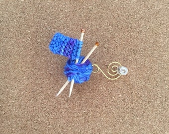 Knitted Christmas Ornament - Work In Progress