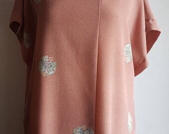 Dress tunic Kimono old Rose size LL
