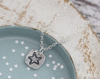 Silver Star Necklace, Star Necklace, Christmas Gift for her, Graduation Gift, Star Jewellery, Celestial Necklace, Teacher Gift