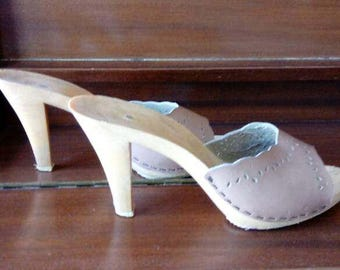 Slingback High Heeled Sandals Size 8