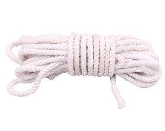 White Twisted Cord Rope