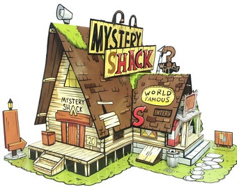 Gravity Falls, Mystery Shack - Paper Toy - DIY Paper Craft Kit - 3D Model Paper Figure from Gravity Falls